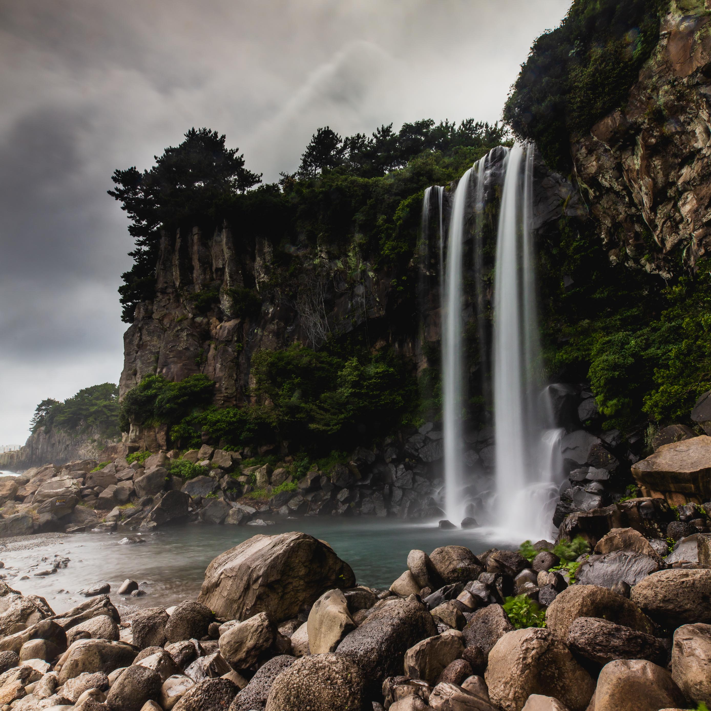 Jeongbang Wasserfall